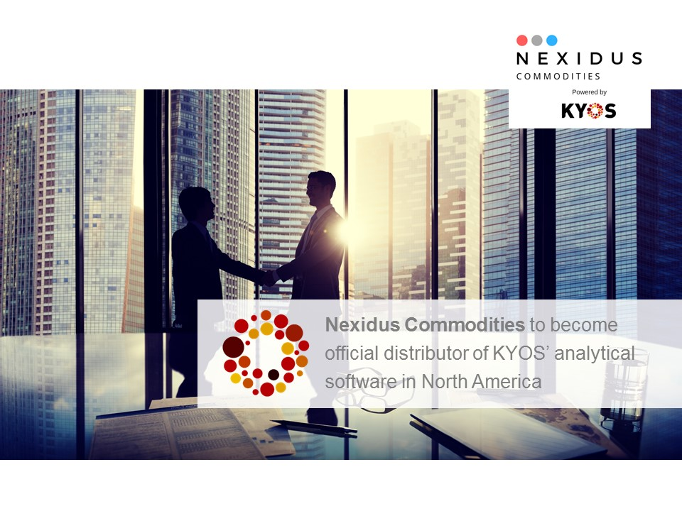 Nexidus Commodities to become partner of KYOS in North America
