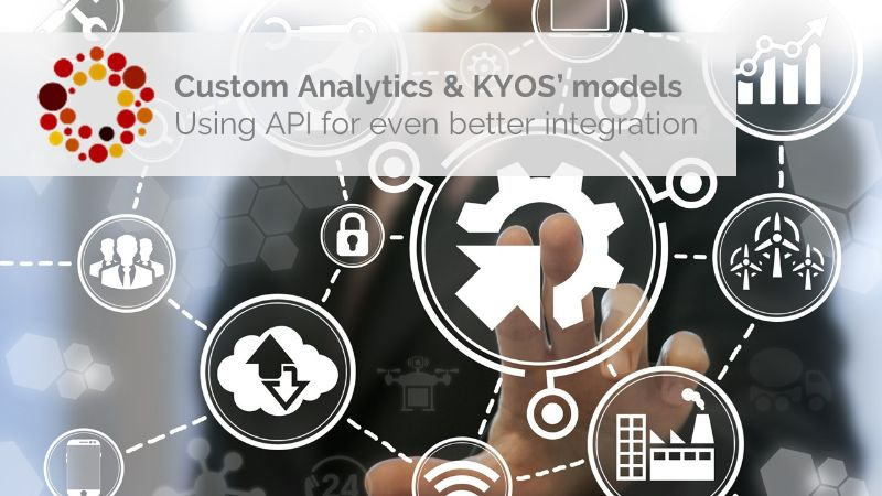 use APIs with KYOS modules to facilitate up-and dowload of data