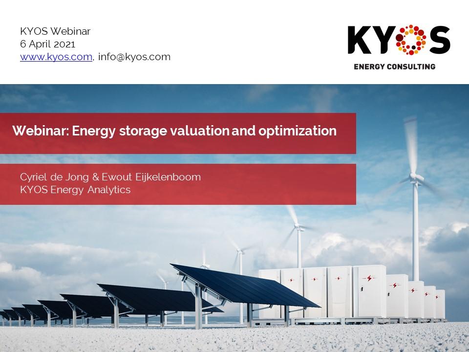 KYOS webinar energy storage valuation and optimization